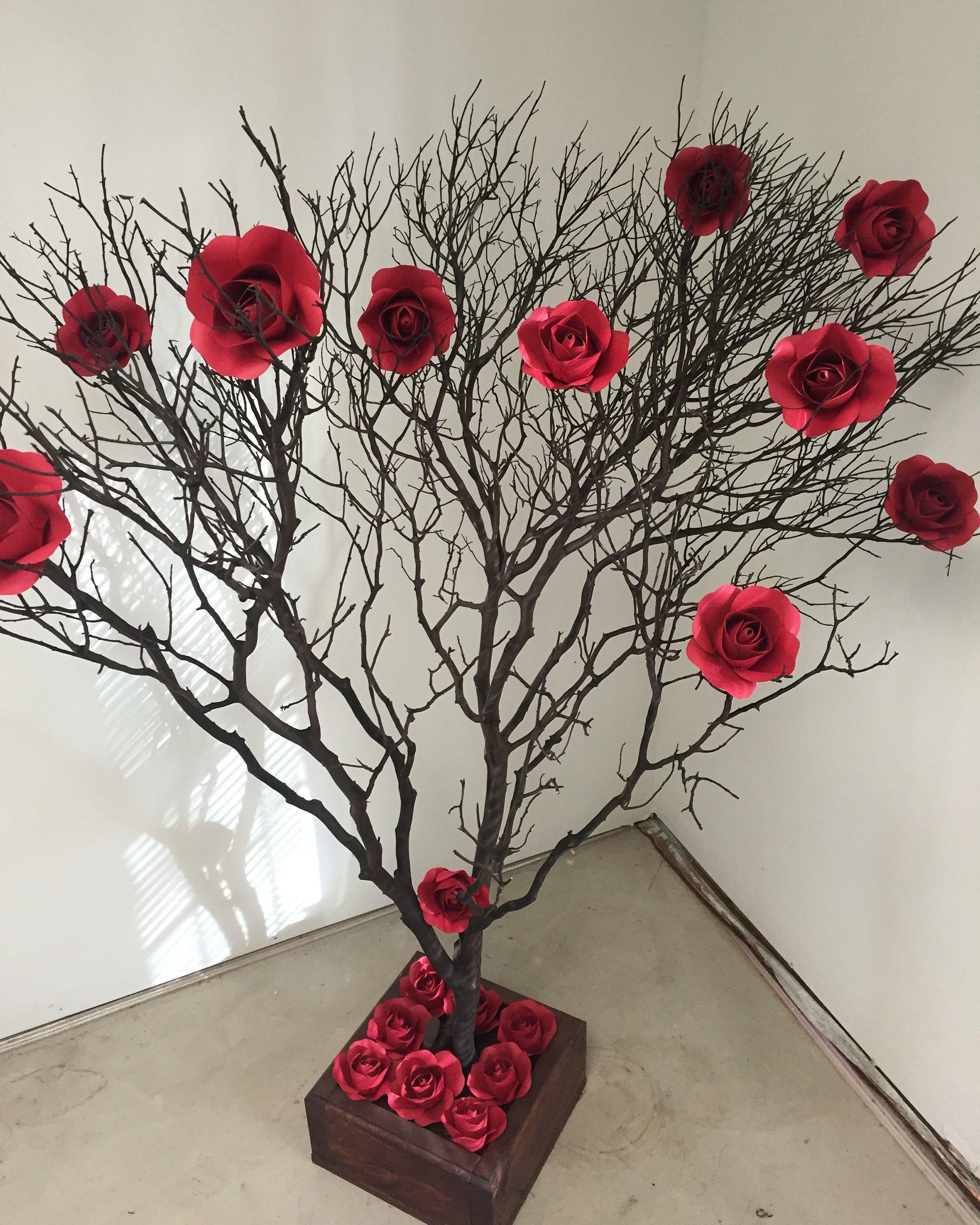 Paper Flowers Decoracao Com Galhos Secos Ideias