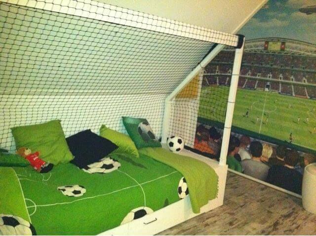 Behang Kinderkamer Voetbal : Voetbalkamer inrichten u2013 alles op een rijtje voor een voetbal