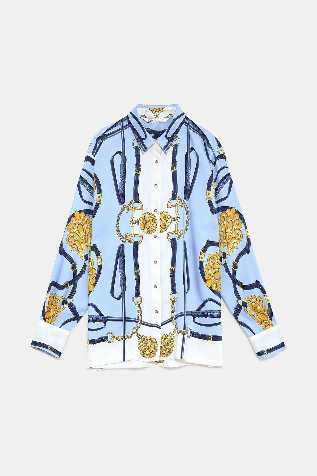 b17753d0 Chain print blouse | Clothing | Printed blouse, Blouse, Shirt blouses