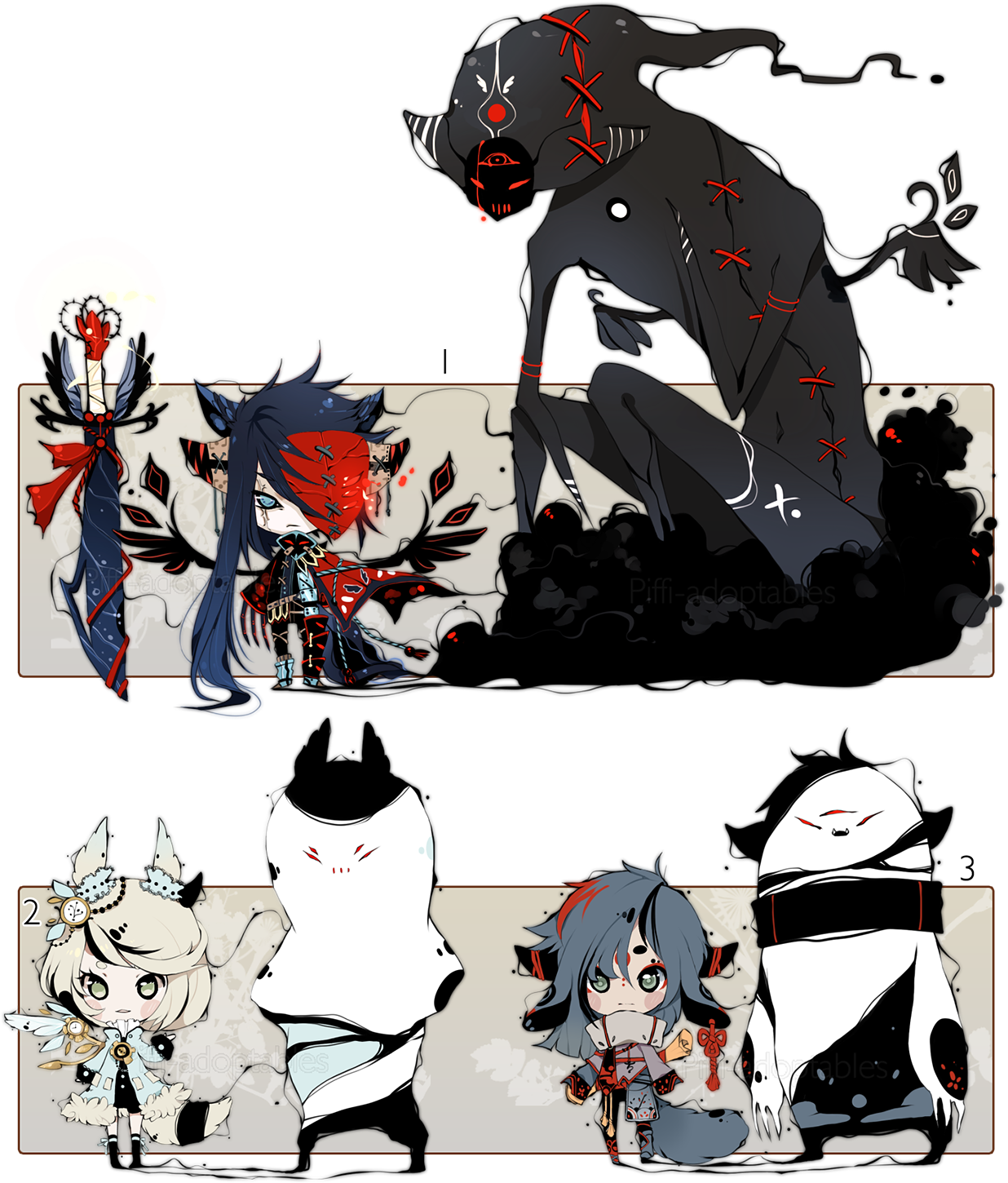 [CLOSED] ADOPT AUCTION 120 - Shadowmonsters by Piffi-adoptables.deviantart.com on @DeviantArt