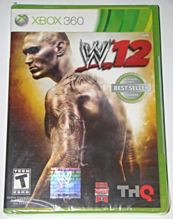 Xbox 360 thq wwe '12 (new, complete) Wwe, Wrestling