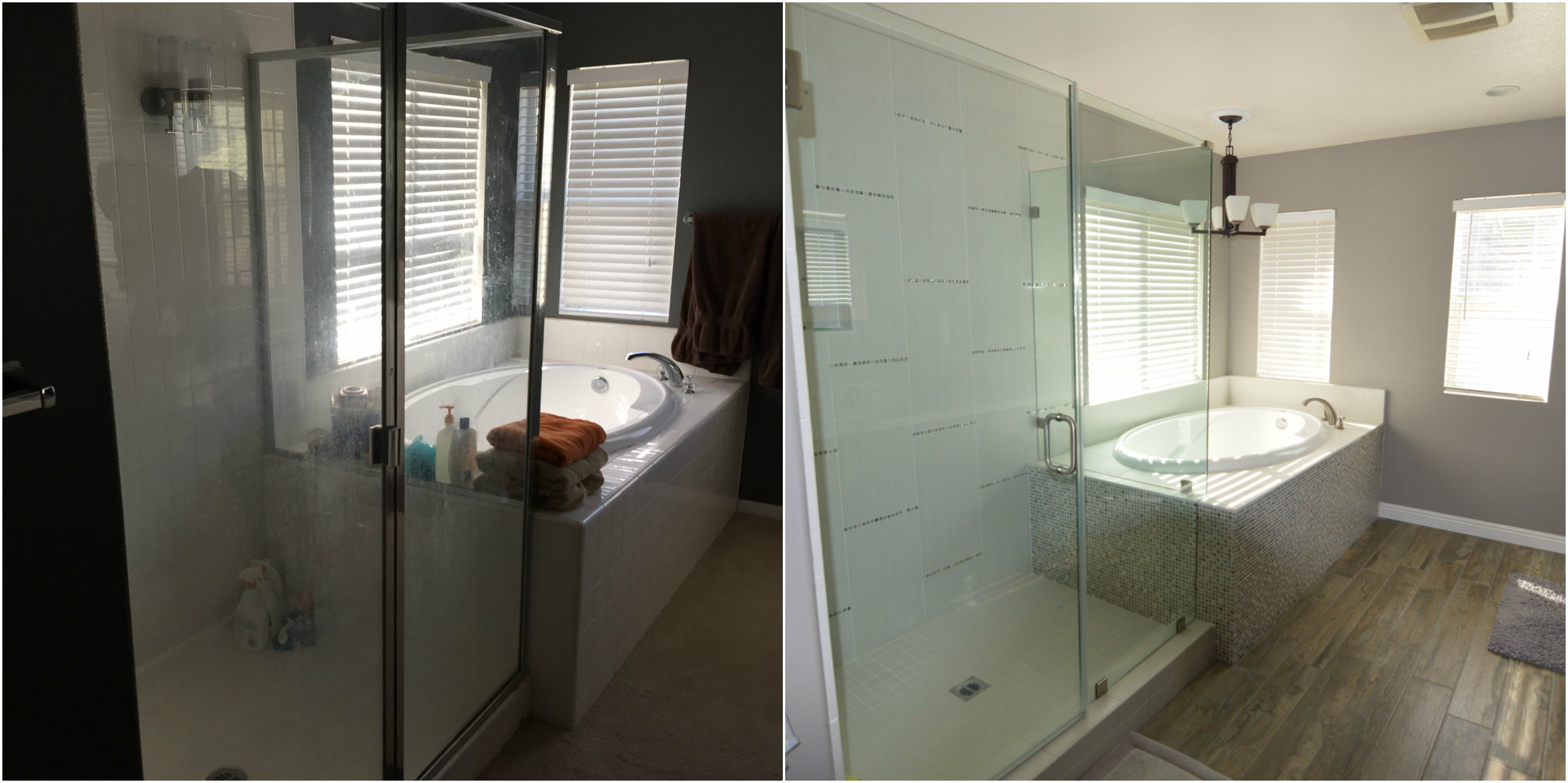 Corona CA Contemporary Master Bathroom Remodel Before After - Bathroom remodel corona ca