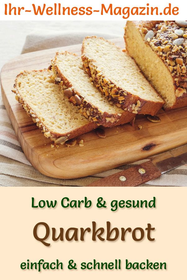 Low Carb Quarkbrot - gesundes Rezept zum Brot backen
