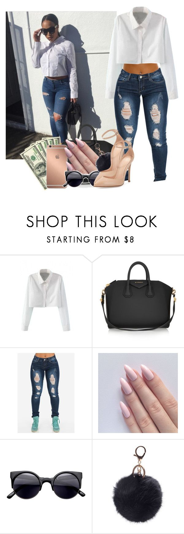 """""""Class not Trash"""" by heavensincere ❤ liked on Polyvore featuring WithChic, Givenchy, Mura and Gianvito Rossi"""