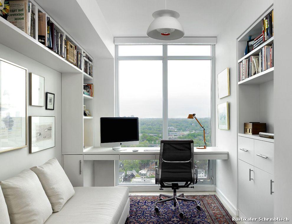 Modernes arbeitszimmer  Rustikaler Schreibtisch Skandinavisch Arbeitszimmer with Sofa by ...