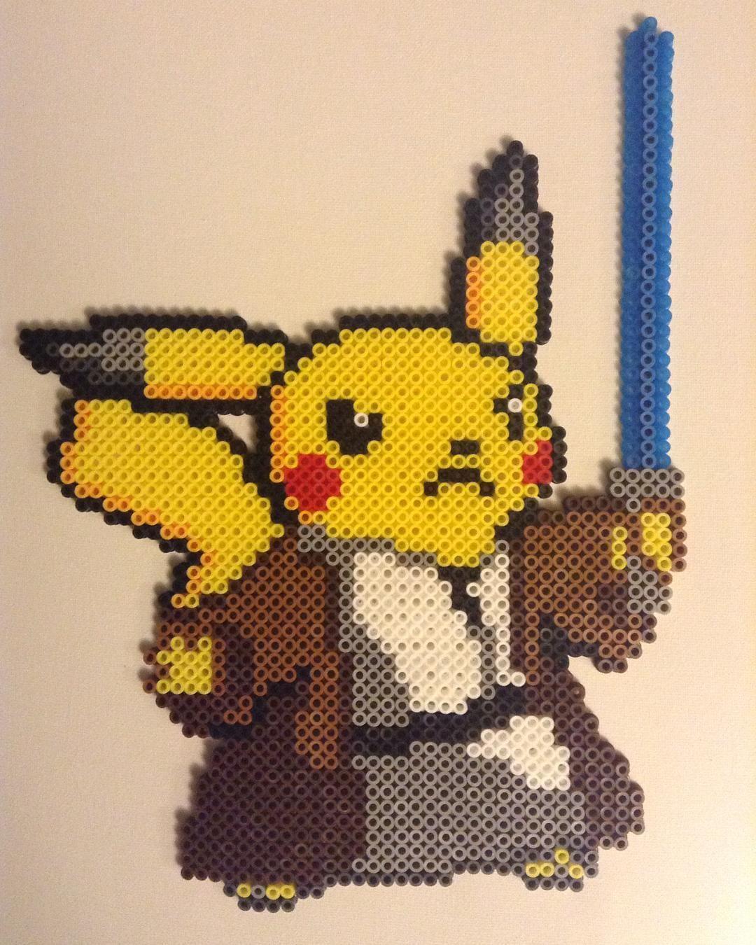 Jedi Pikachu hama beads by caseylcarr | Pokemon World