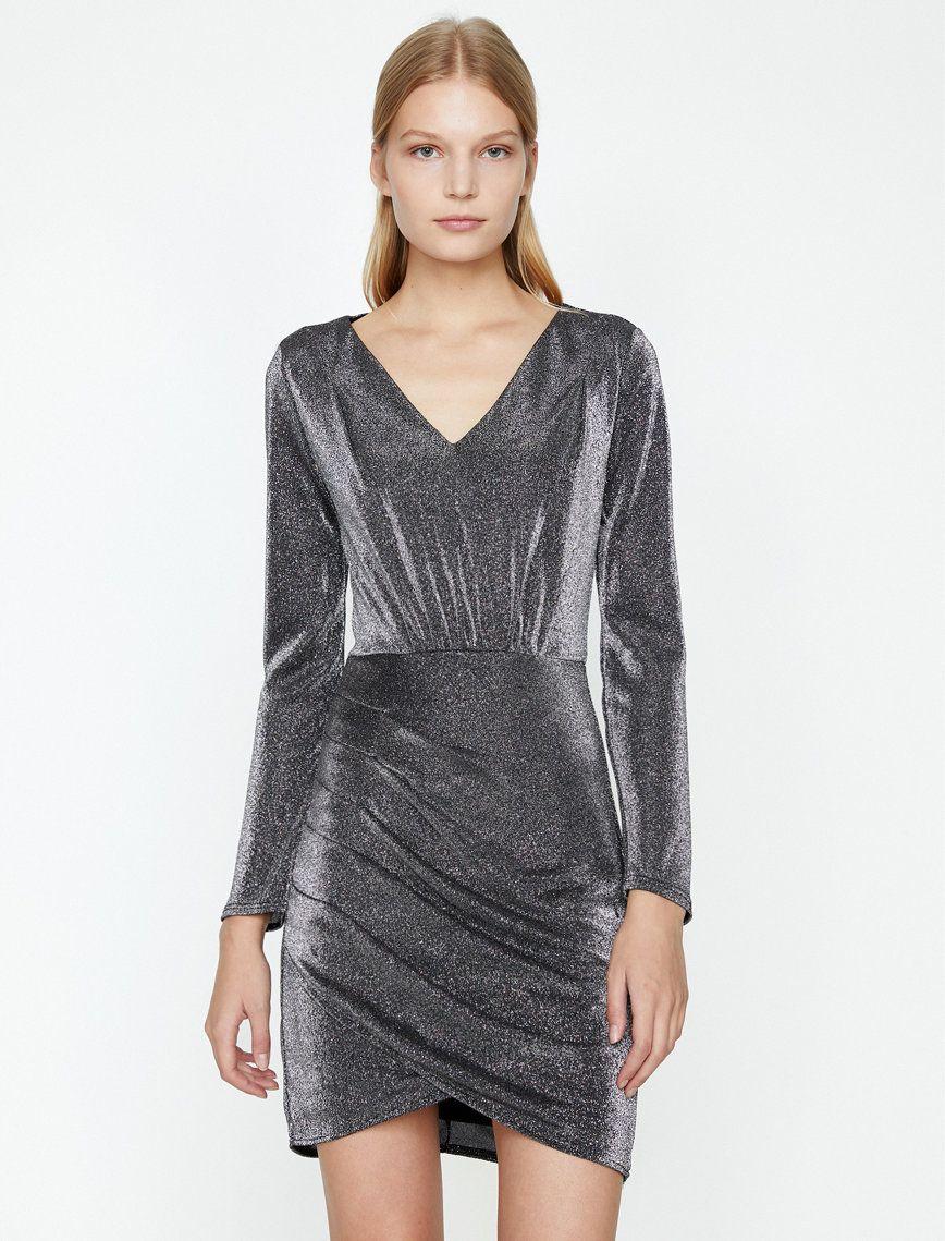 Sim Detayli Elbise Mini Elbise Elbise Mini Elbiseler