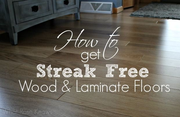 how to clean laminate wood