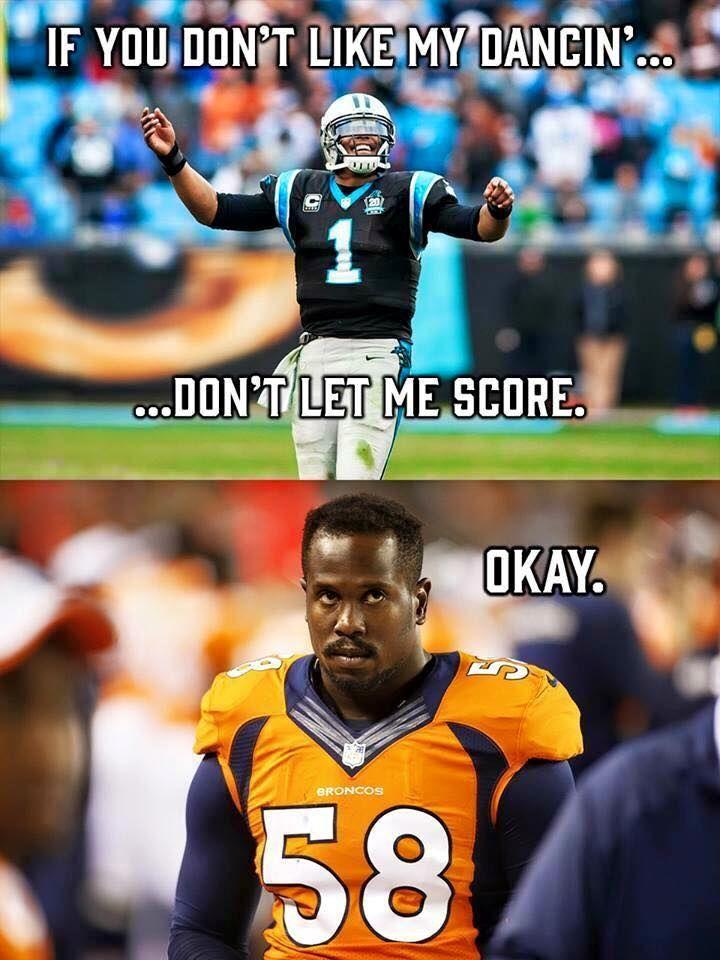 Cam Newton Von Miller Meme Nfl Memes Funny Football Funny Football Jokes