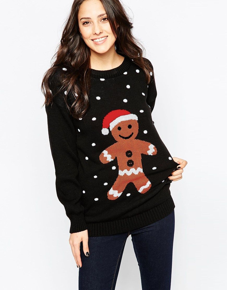Club L Gingerbread Man Christmas Jumper
