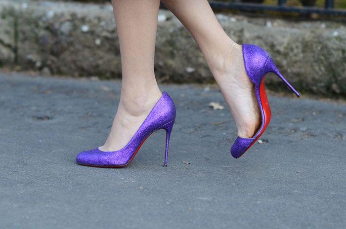 louboutin glitter shoes