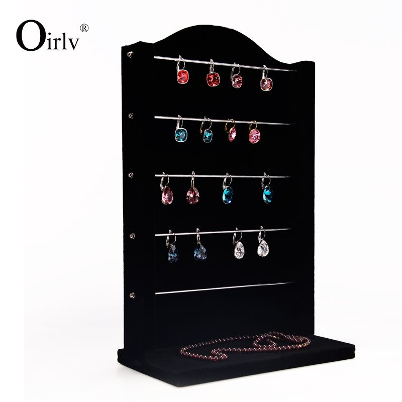 Black Velvet Earring Display Stand Oirlv Free Shipping Stylish Earring Display Stand Holder Shelf 14