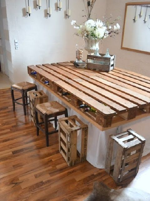 Recycled Pallet Dining Table 15 Ideas Pallet Dining Table