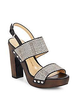 Baker Wood Platform Sandals