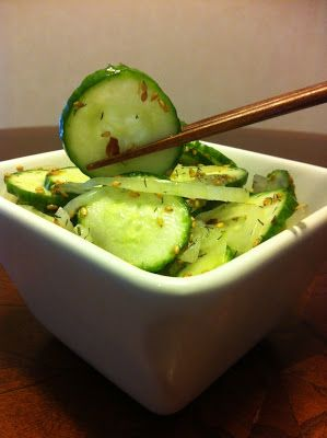 The Honey Hole Kitchen: Asian Marinated Cucumbers