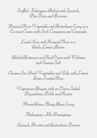 vegan wedding menu Feast - Catering for functions, corporate - formal dinner menu template