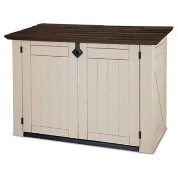 Keter 17187332 Mülltonnenbox Store It Out XL, Holzoptik, Kunststoff, Beige/ Braun,