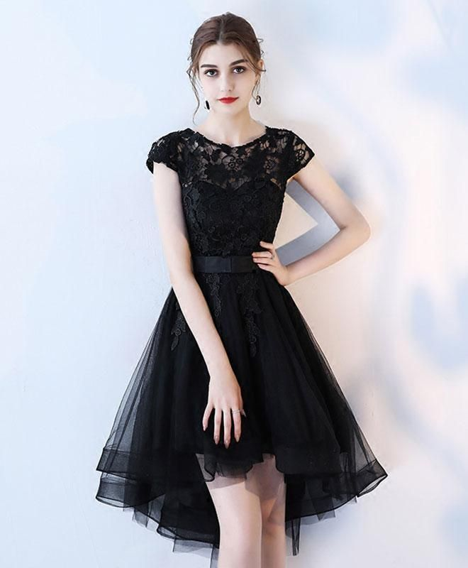 lace black homecoming dresses short