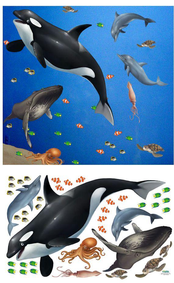 sea animal wall decals kids room pinterest ocean ocean creatures wall sticker wall stickers