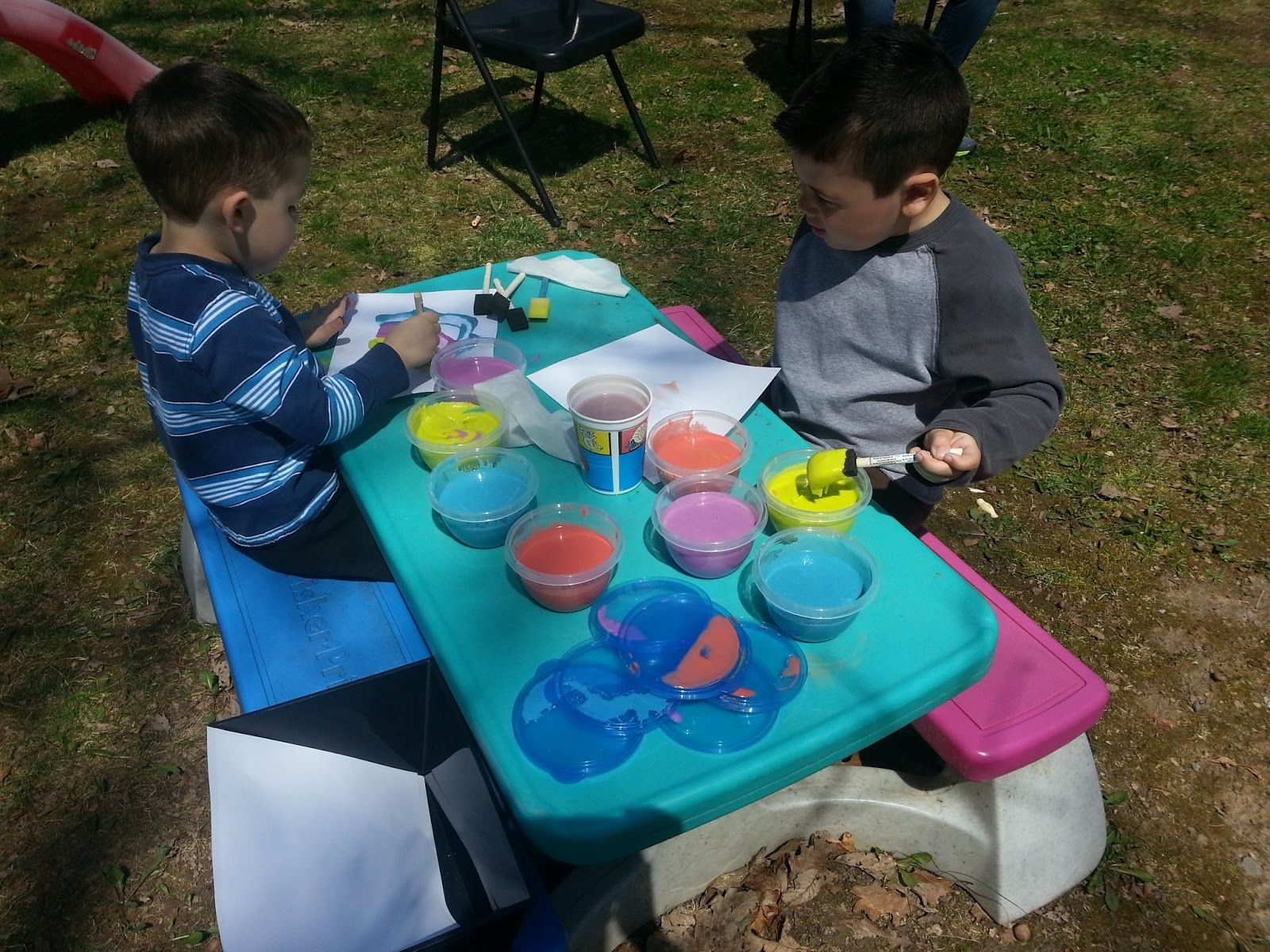 Children At Play: Fun with Homemade Paint