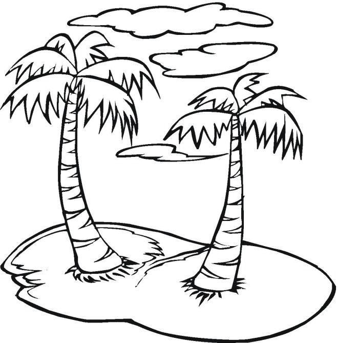 Пальма для раскрашивания