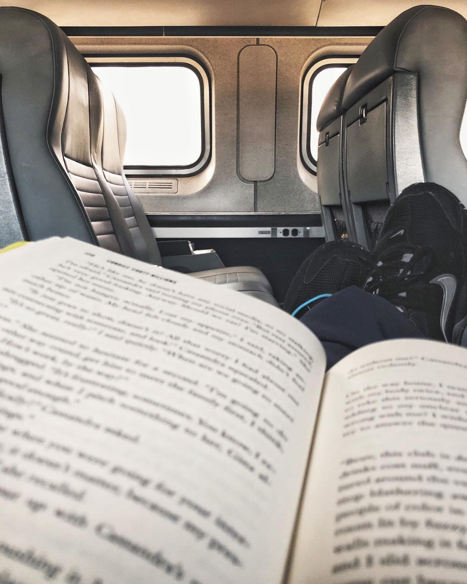 Reading is a great way to wind down after a shift! How
