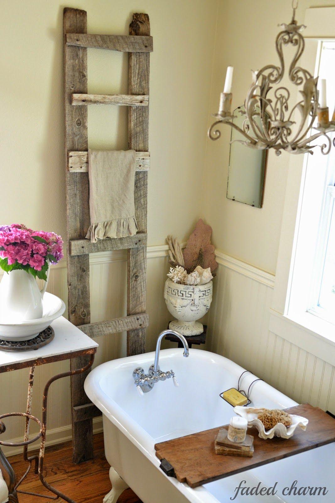 A Sunny Summer Morning Shabby chic bathroom decor