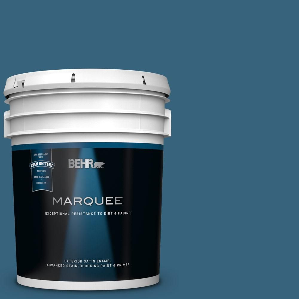 Behr Marquee 5 Gal 550d 7 Southern Evening Satin Enamel Exterior
