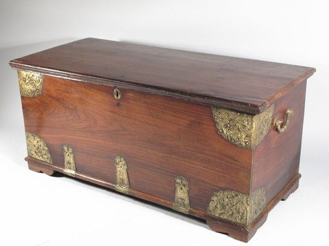 Brass Bound Rosewood Chest From Kutch - 19thC - A2586