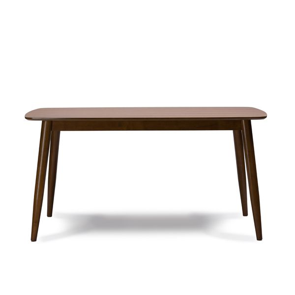 Furniture Clearance Sacramento: Sacramento Mid-Century Solid Wood Dining Table By Baxton