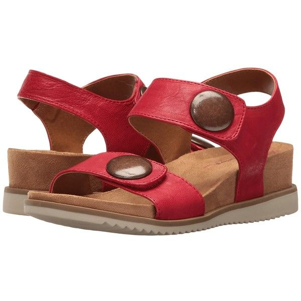 137e2ed9395 Comfortiva Pamela II (Cupid Red Oyster) Women s Wedge Shoes ( 73) ❤ liked  on Polyvore featuring shoes
