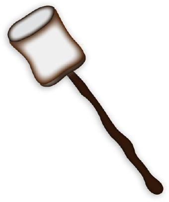 Camping clip art, Clip art of two s'mores made up of graham ...