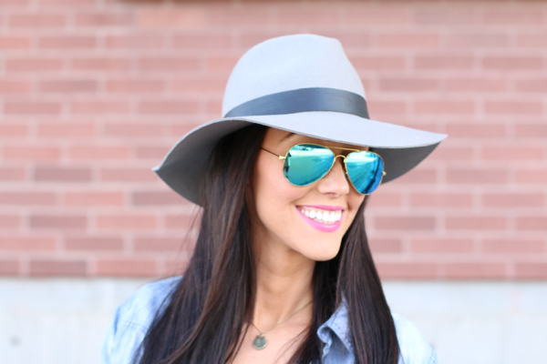 Grey Hat & RayBans it doesn't get any better! www.BrittanyMaddux.com