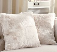 I love pillows.  Faux Fur Pillow Cover - Ivory  #onekingslane and #designisneverdone