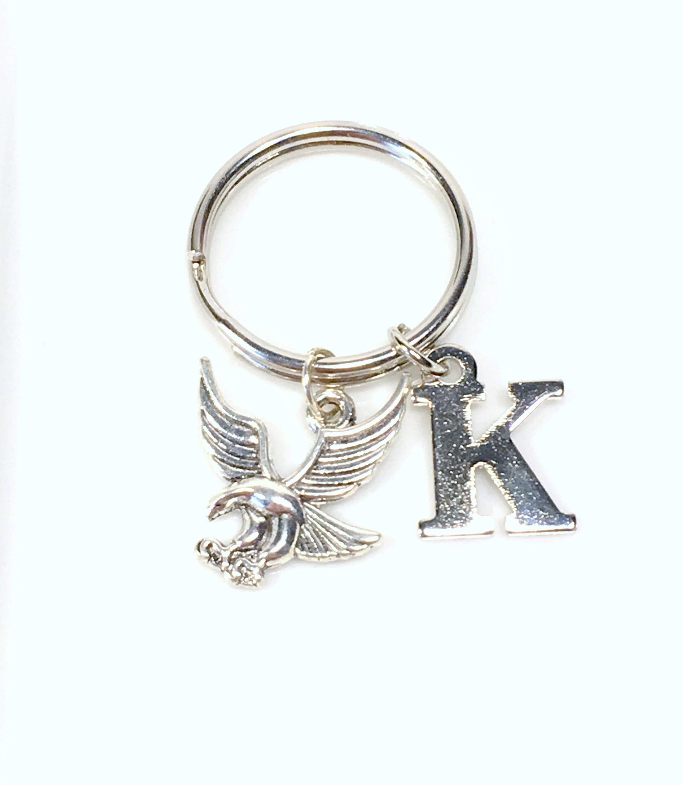 Vintage gull bird Key Rings Fashion Car Keychain Silver Color Metal Key Chains Accessory