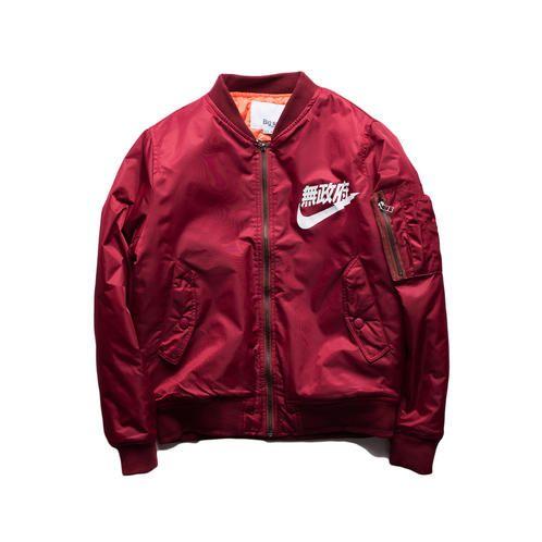 3ca9e8b60e Unisex japanese letters Nike bomber jacket