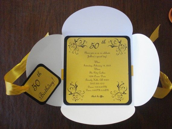 50 birthday invitations yellow petal fold invitations 15th 16th 50 yellow petal fold birthday invitations 15th 16th 18th 21st 30th filmwisefo