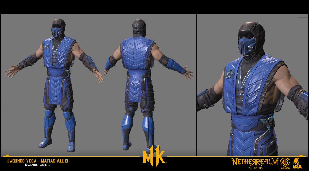 Artstation Sub Zero Past Mortal Kombat 11 Facundo Vega Mortal Kombat Studio Character Art