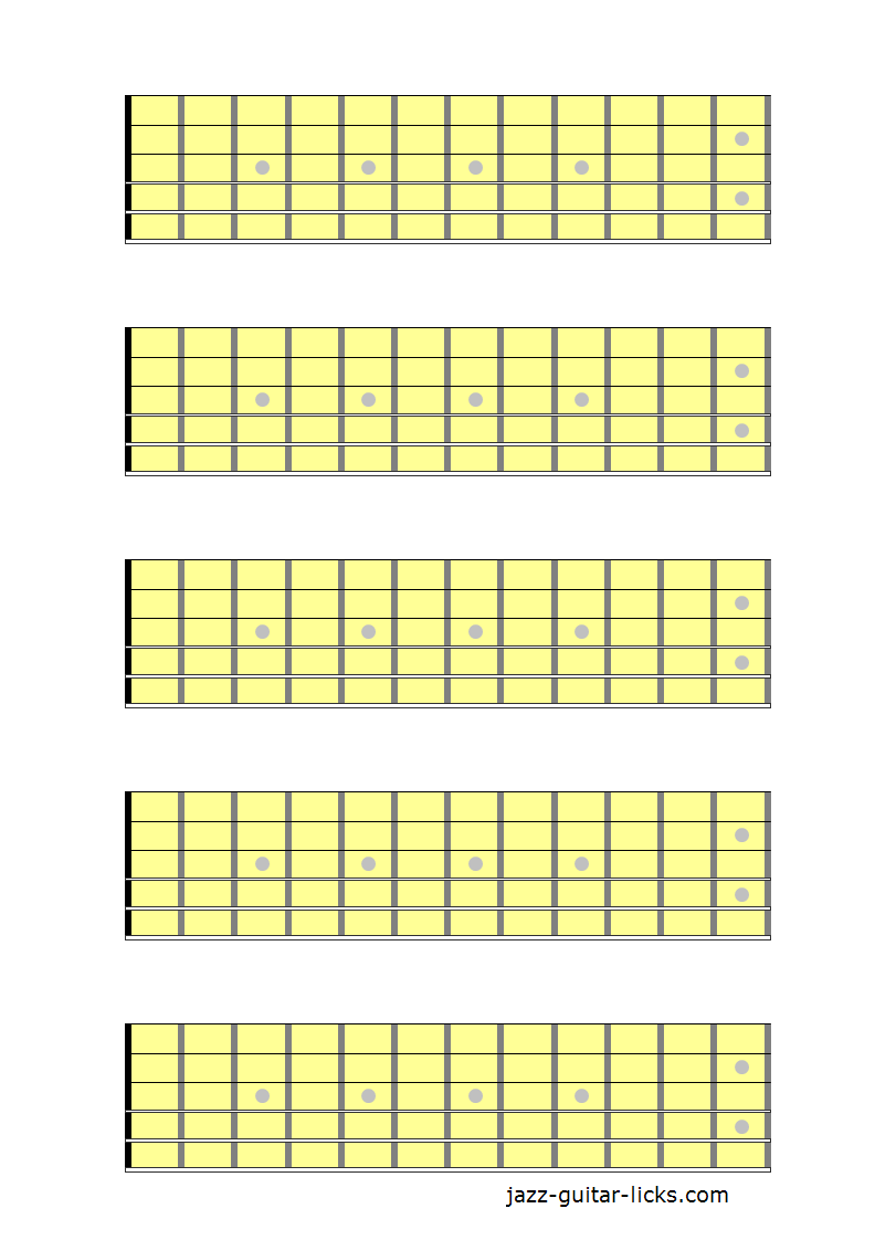 hight resolution of 5 guitar neck diagrams