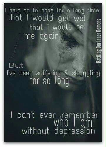 Can't remember who I am without depression