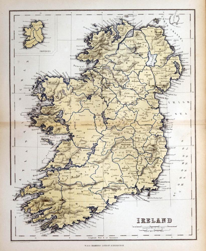 Old map of ireland 1870 wallmonkeys maps pinterest ireland old map of ireland 1870 x peel and stick wall decal by wallmonkeys gumiabroncs Gallery