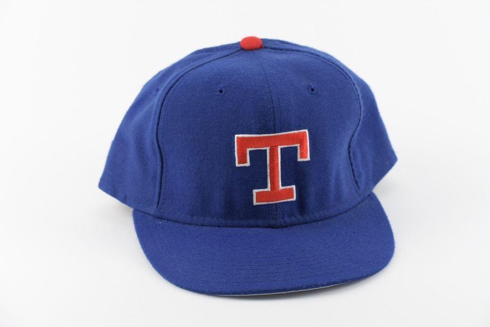 460ed5a3e96 Vintage 80 s 90 s Pro Model Texas Rangers New Era Diamond 7 1 2 Fitted Hat  Cap