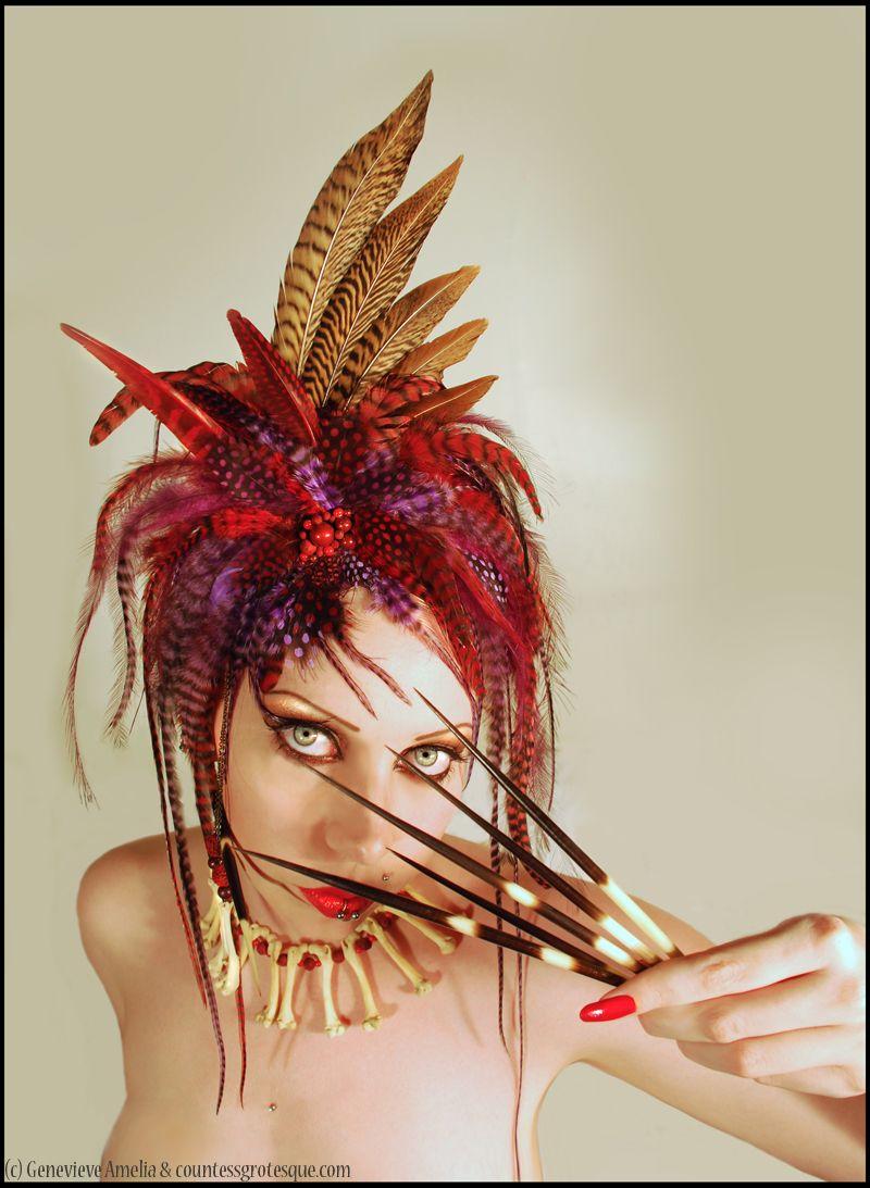 Voodoo Priestess Feather Headdress   Etsy