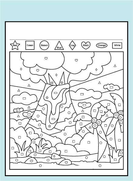 color the shapes worksheet pages coloring pages