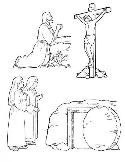 Christian Easter Coloring Pages For Preschoolers : Free easter coloring pages easter pinterest colouring