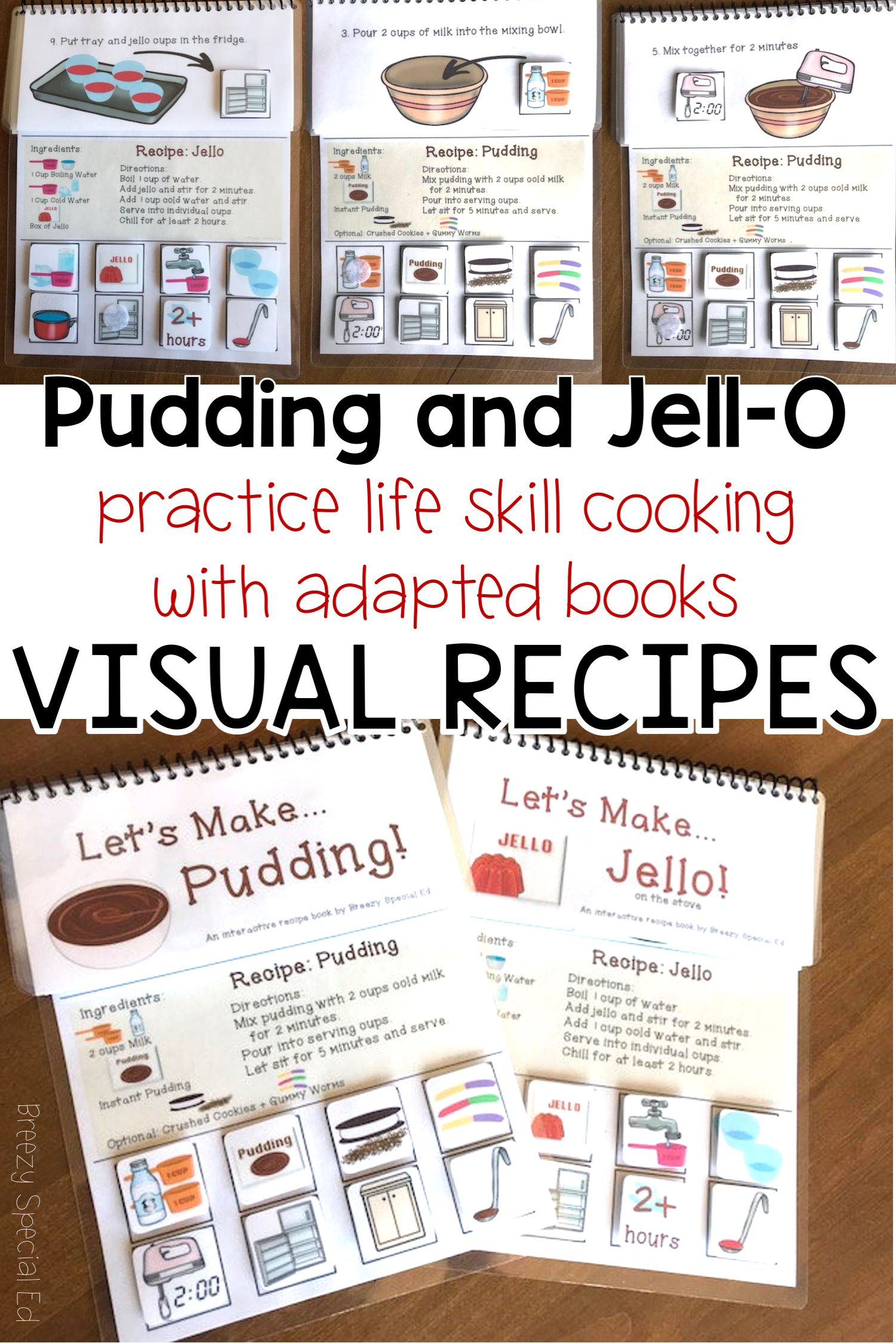Interactive Cooking Lessons Visual Recipes For Pudding