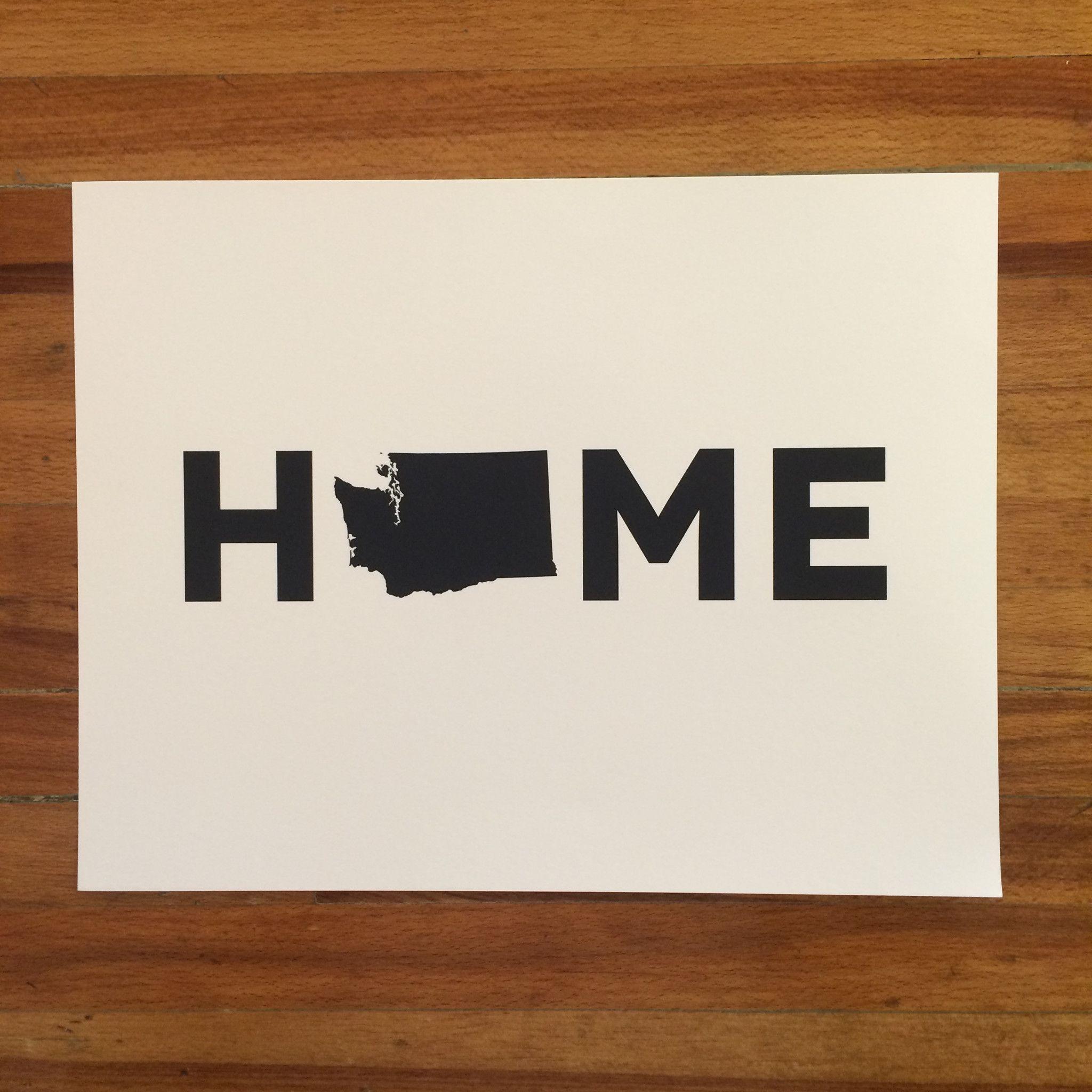 Evergreen State hand lettering digital print