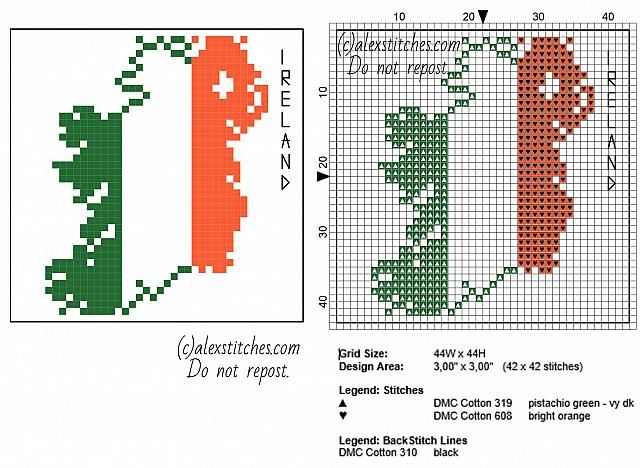 Coaster idea Ireland map with flag colors red white and green free ...
