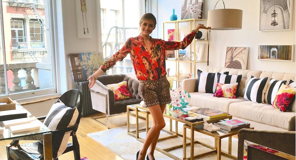 Olivia Palermo On 部屋 レディース スタイル お部屋