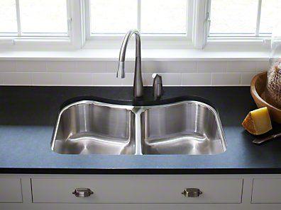 Kohler Staccato Stainless Steel Undermount Sink Sink Double Bowl Kitchen Sink Kitchen Sink